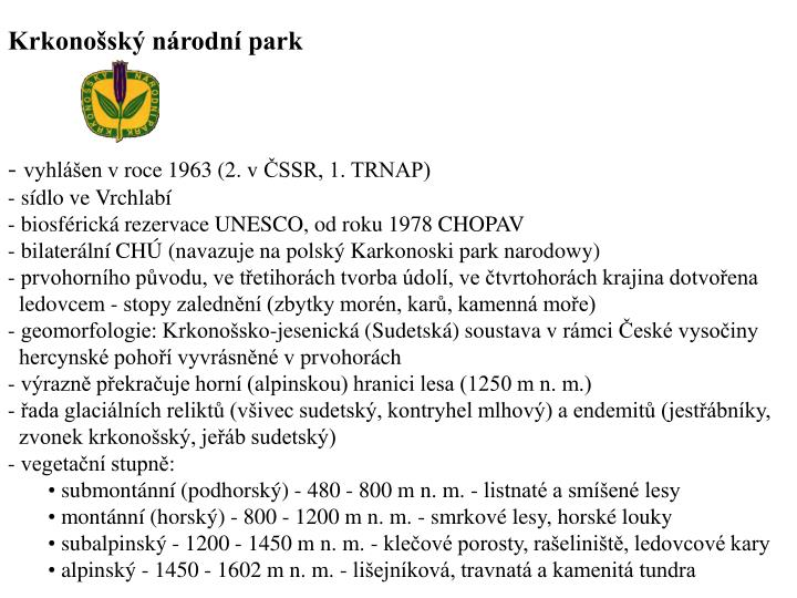 Krkonosk nrodn park