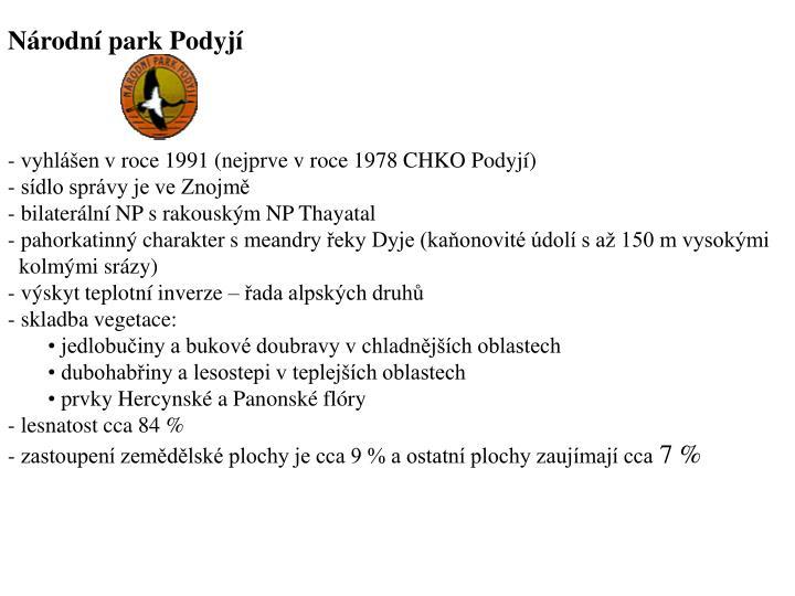 Nrodn park Podyj