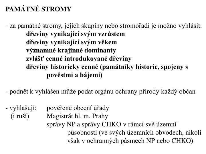 PAMTN STROMY