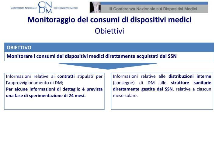 Monitoraggio dei consumi di dispositivi medici