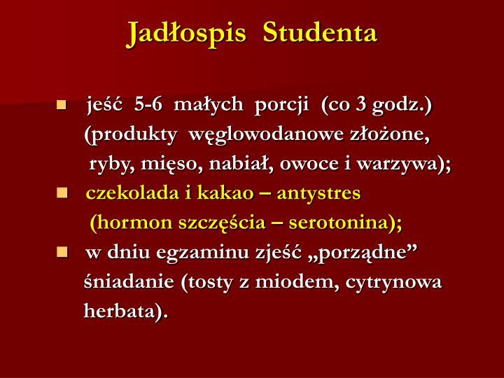 Jadłospis  Studenta