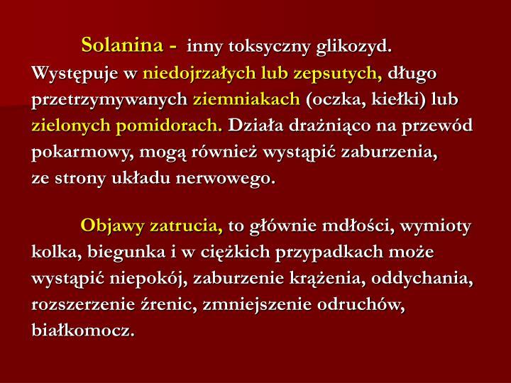 Solanina -