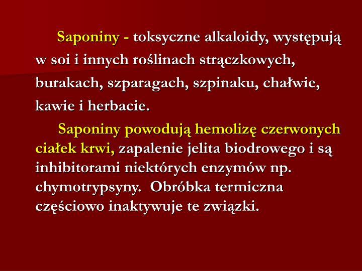 Saponiny -