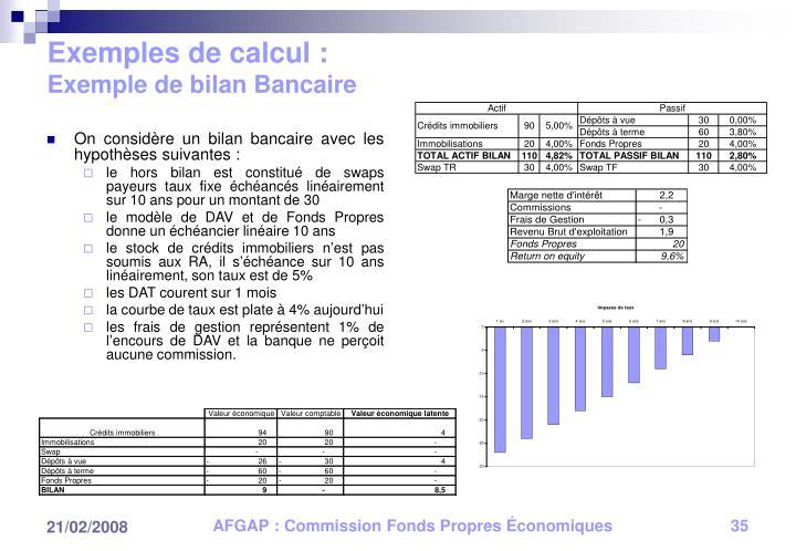 Exemples de calcul :