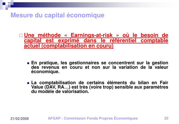 Mesure du capital économique