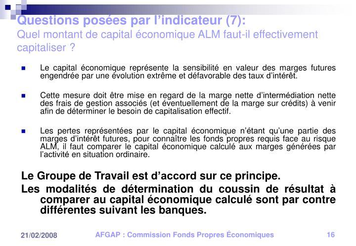 Questions posées par l'indicateur (7):