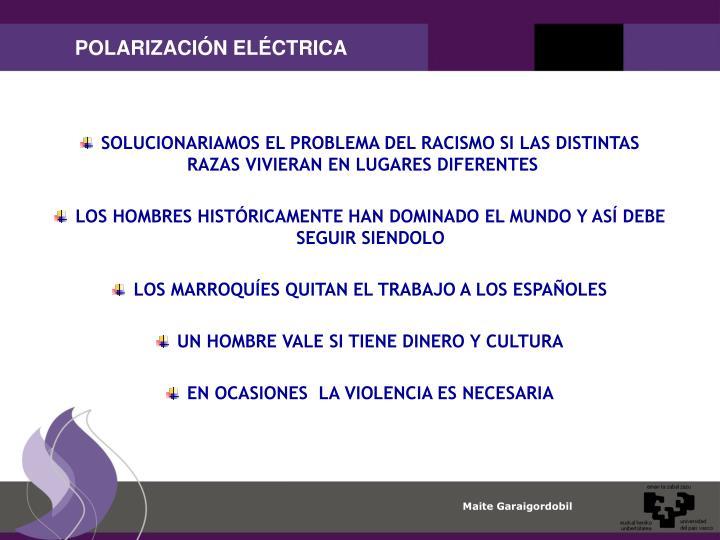 POLARIZACIÓN ELÉCTRICA