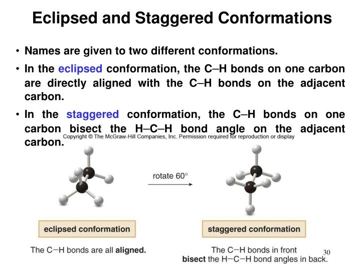 Eclipsed and Staggered Conformations