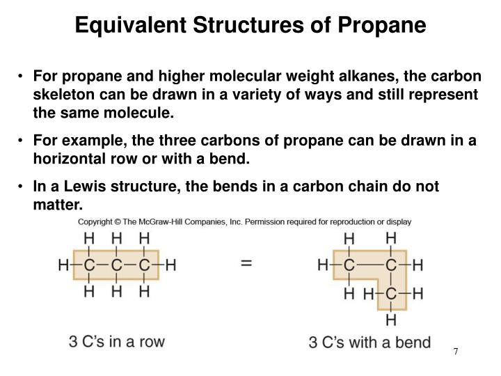 Equivalent Structures of Propane