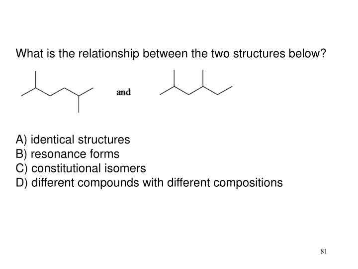 What is the relationship between the two structures below?