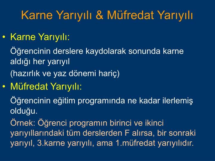 Karne Yarıyılı: