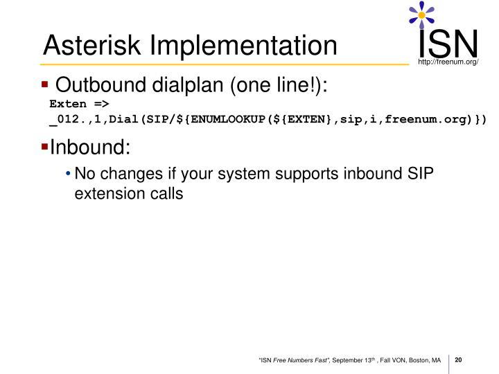 Asterisk Implementation