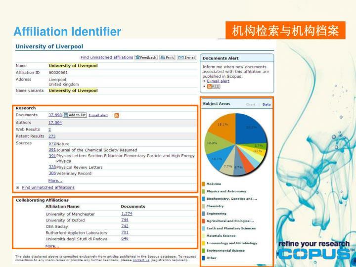 Affiliation Identifier