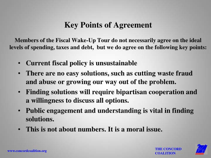 Key Points of Agreement