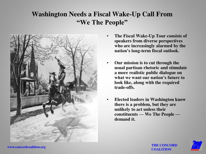 Washington Needs a Fiscal Wake-Up Call From