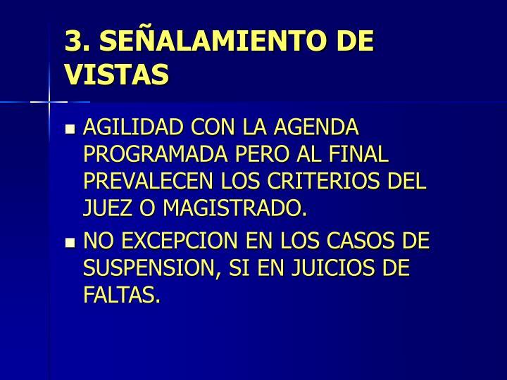 3. SEÑALAMIENTO DE VISTAS