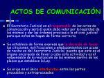 actos de comunicaci n