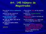 art 145 n mero de magistrados
