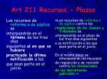 art 211 recursos plazos