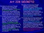 art 228 decreto