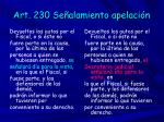 art 230 se alamiento apelaci n