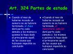 art 324 partes de estado