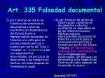 art 335 falsedad documental