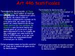 art 446 testificales