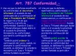 art 787 conformidad