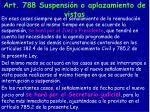 art 788 suspensi n o aplazamiento de vistas