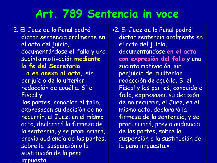 2. El Juez de lo Penal podrá dictar sentencia oralmente en el acto del juicio, documentándose