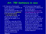 art 789 sentencia in voce