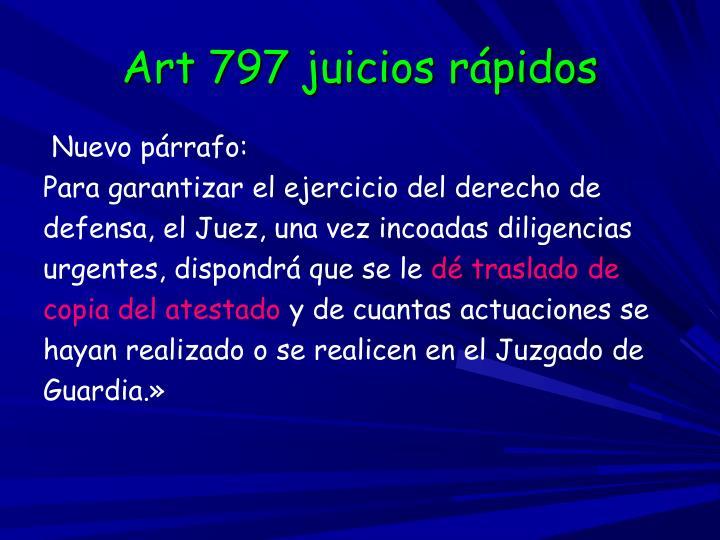 Art 797 juicios rápidos