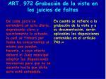 art 972 grabaci n de la vista en los juicios de faltas