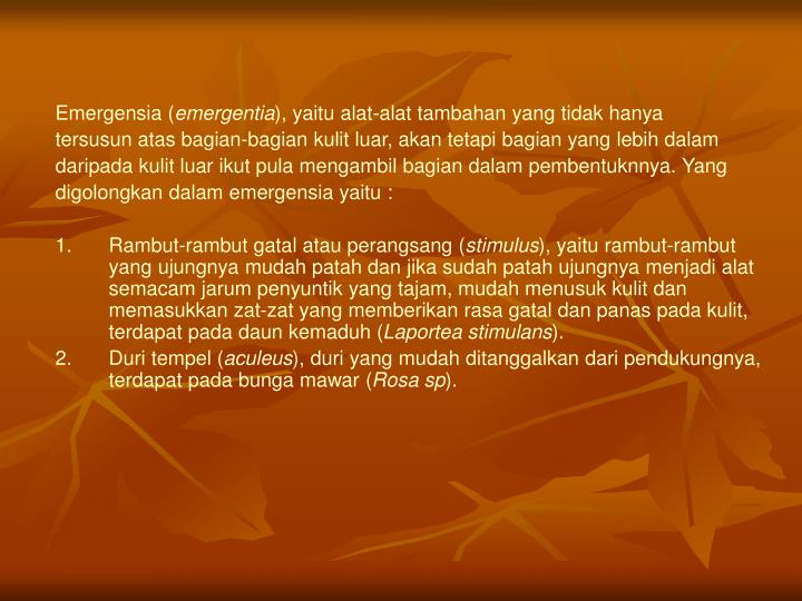 Emergensia (