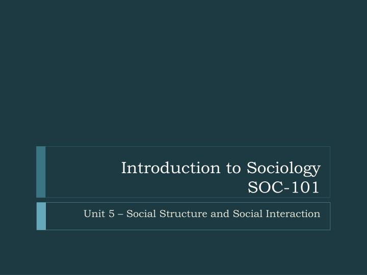 introductory sociology essay