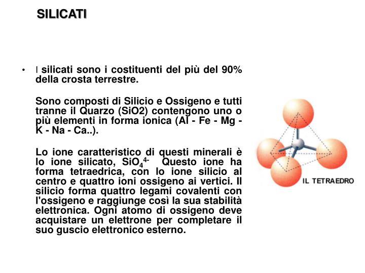 SILICATI