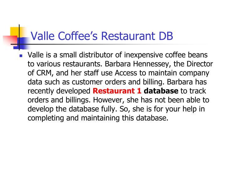 Valle Coffee's Restaurant DB
