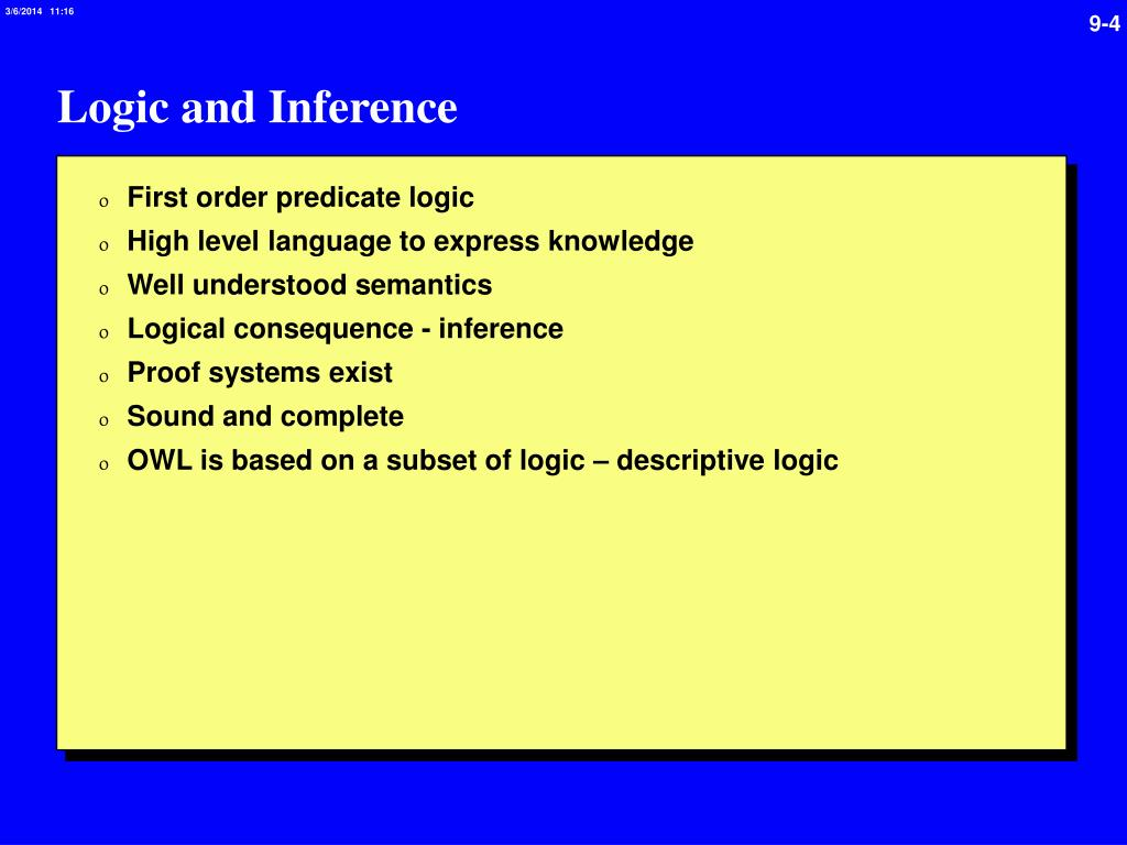 Logic and Inference