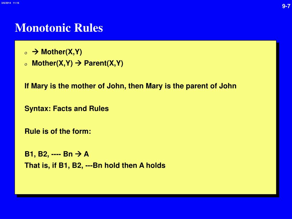 Monotonic Rules