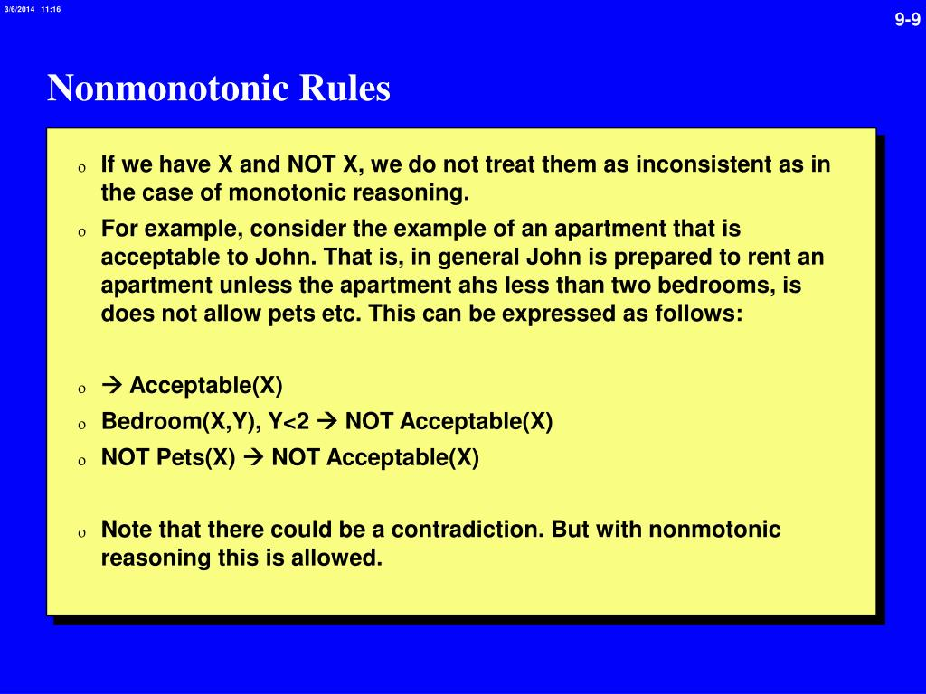 Nonmonotonic Rules