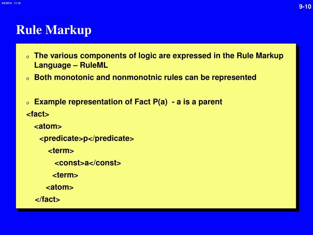 Rule Markup
