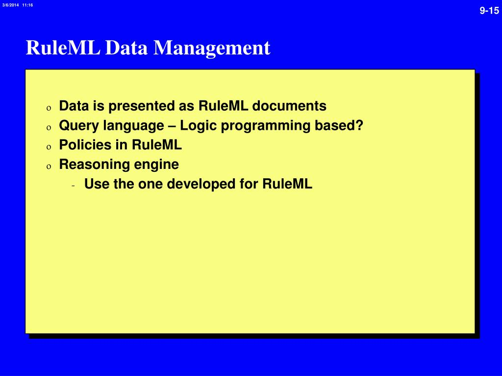 RuleML Data Management