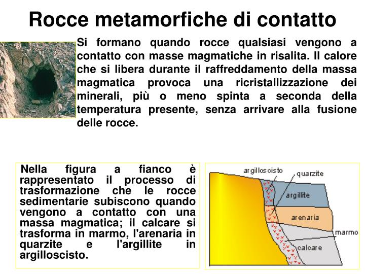 Rocce metamorfiche di contatto