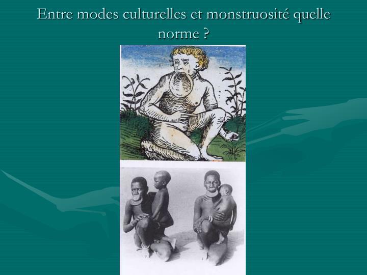 Entre modes culturelles et monstruosité quelle norme ?