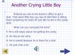 another crying little boy