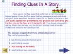 finding clues in a story15
