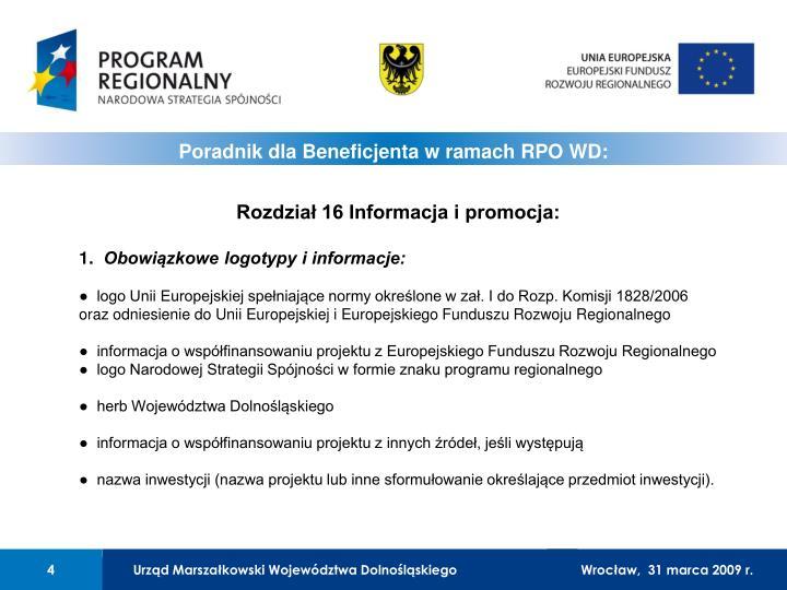 Rozdział 16 Informacja i promocja: