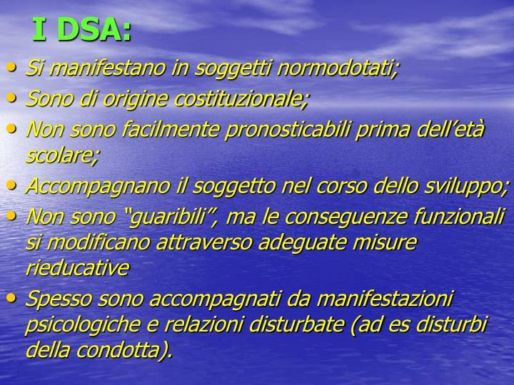 I DSA: