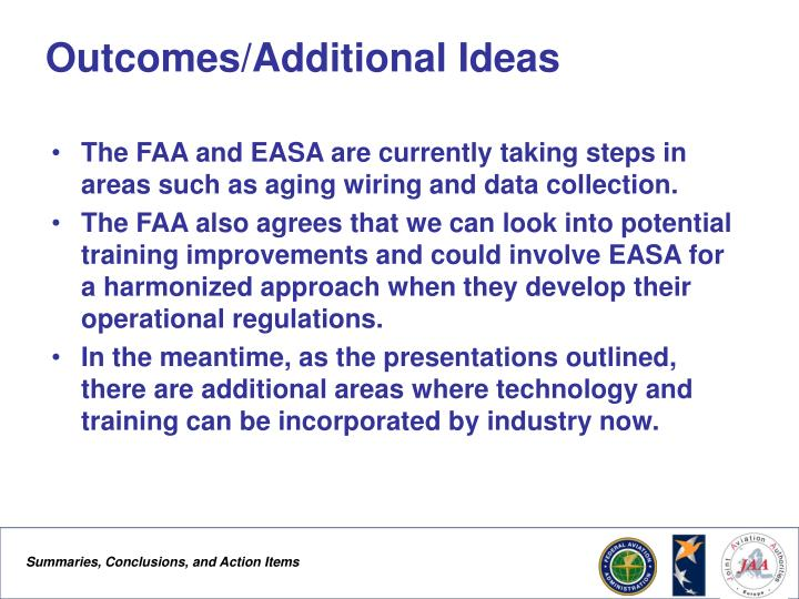 Outcomes/Additional Ideas